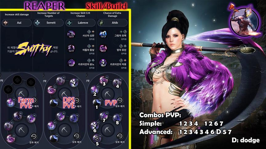 Skill build sorceress (Reaper)