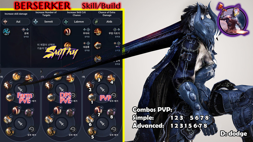 Skill build Warrior (Berserker)