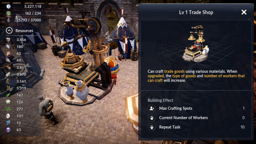 Trade Shop Black Desert Mobile