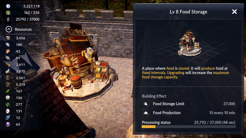 Food Storage Black Desert Mobile