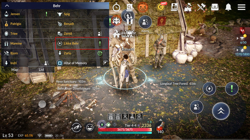 Quests on weight(LT) in Black Desert Mobile