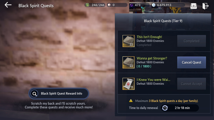 Black Spirit Review in Black Desert Mobile