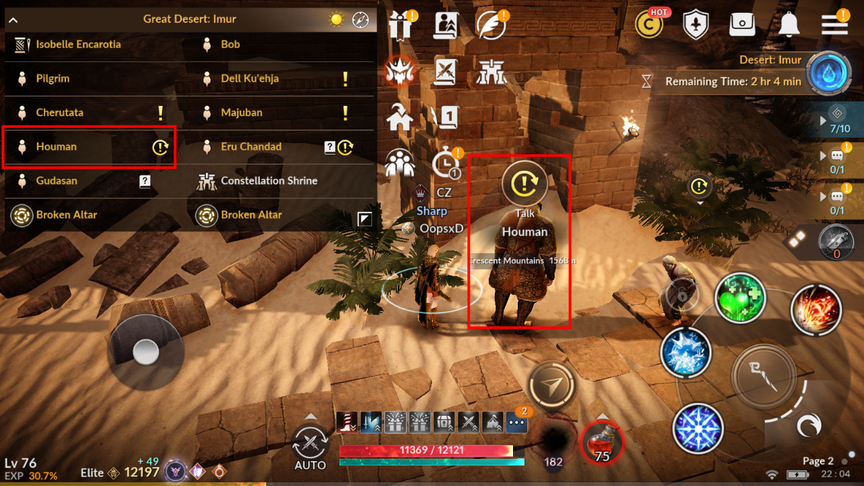 Orzeca's Treasure how to collect Ornette's Blessed Potion, Omar Pickaxe and Florin Hoe Black Desert Mobile