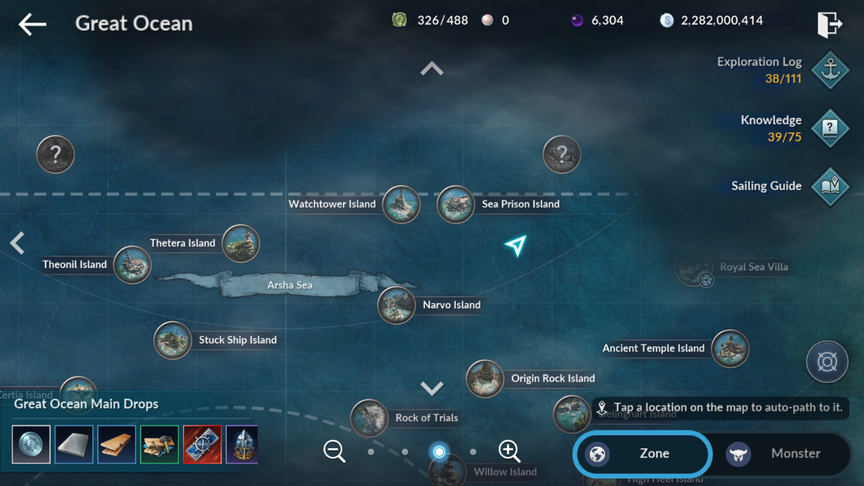 Black Desert Mobile Knowledge When You're Lost In the Great Ocean
